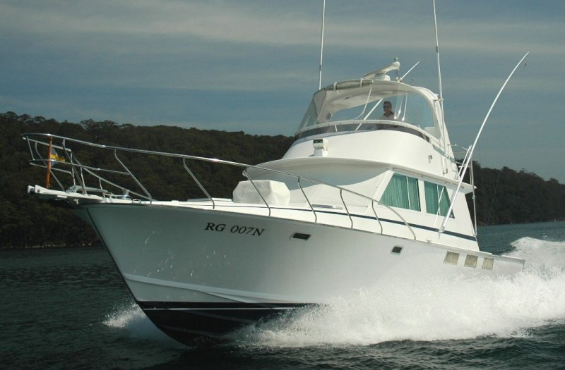 BLIGH sports fisherman designed by Ray Hunt.