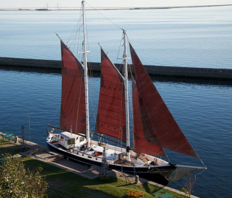 Larus woodenboat magazine for 68 garden design gaff rigged schooner