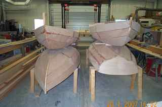 Shellbacks under construction at the Antique Boat Museum 2007