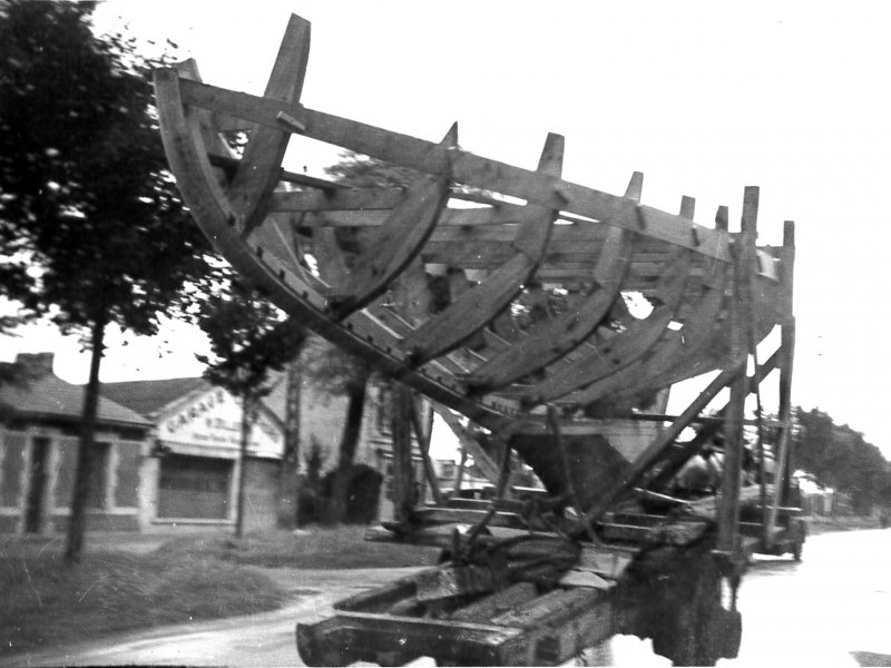 Exit of construction site 1950