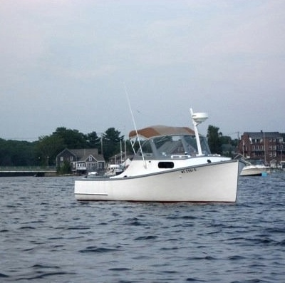 WHITE LADY, 27' Downeast-style bassboat