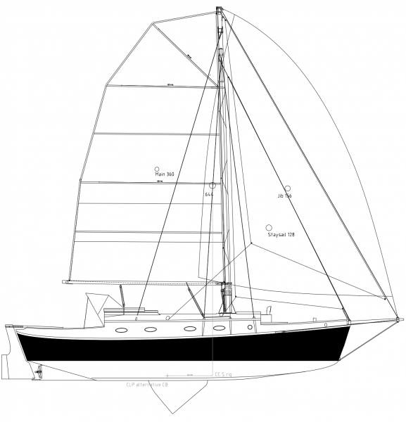 Simplicity 35 plywood epoxy centerboard sailboat