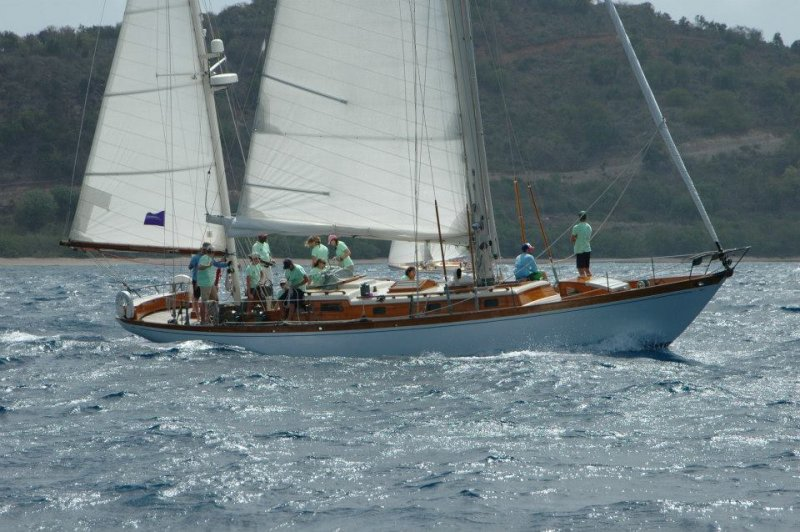 SAPHAEDRA at Antigua Classic Yacht Regatta, 2015. Photo by Andrew Breece.