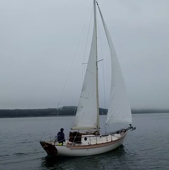 Thomas Gilmer 27' sloop NEW MOON.