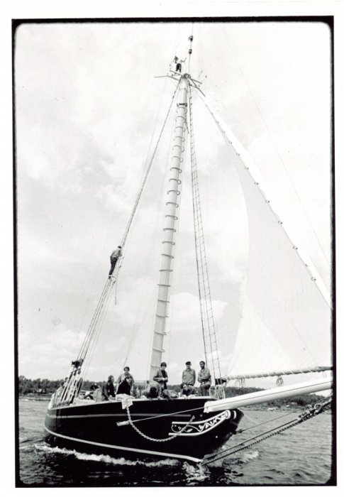 Sloop CLEARWATER's maiden voyage, 1969. Photo: A. Wallace Collection.