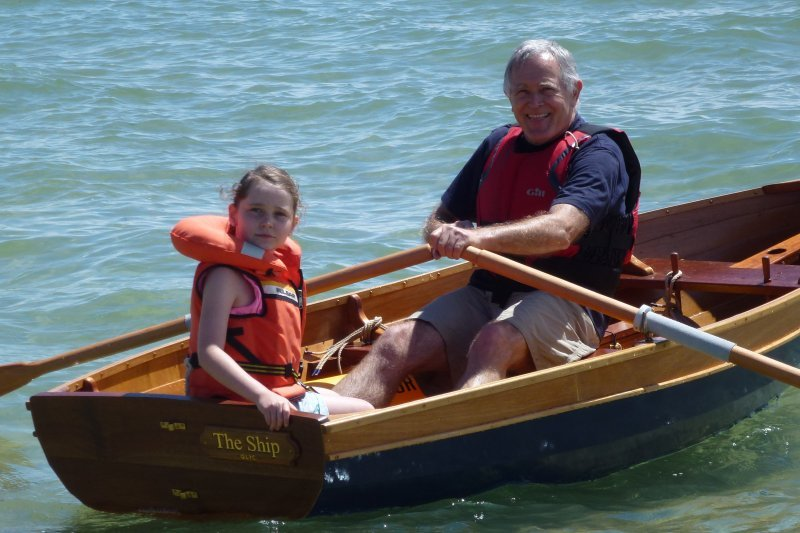 Rick Gower and granddaughter enjoying THE SHIP