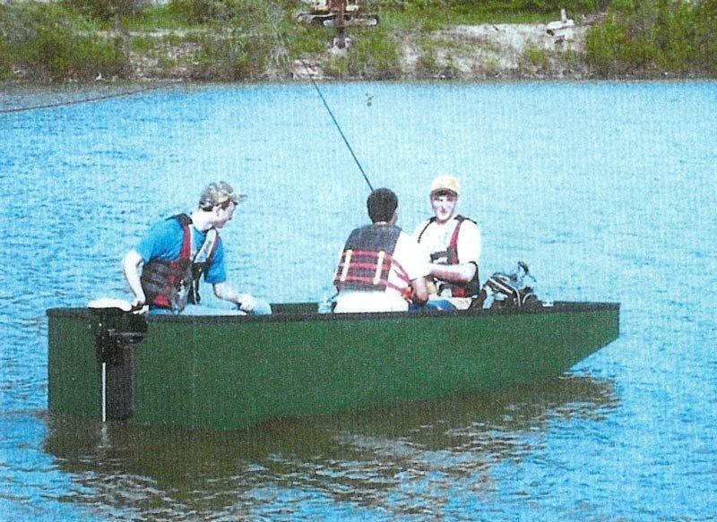 Fishing from the Jon Boat.