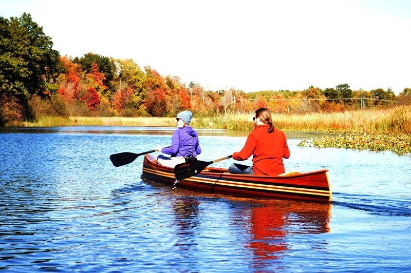Cedar strip canoe photo