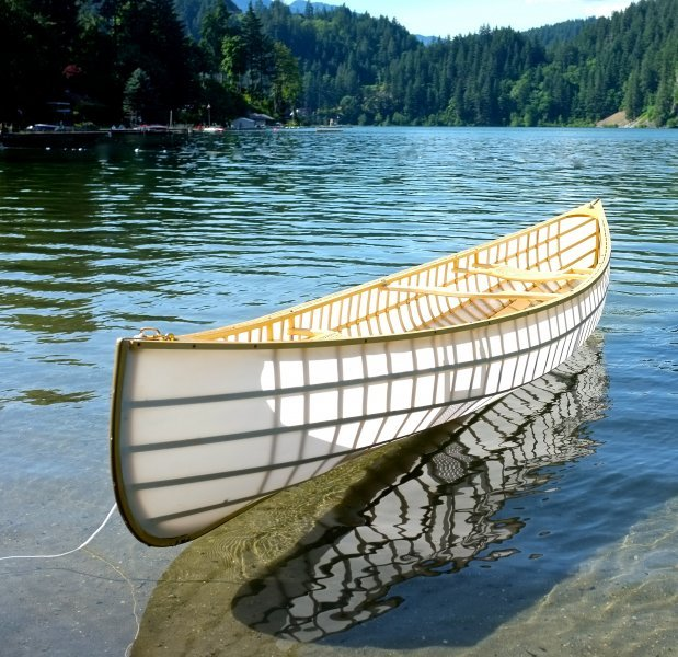 The Ranger canoe built from Bear Mountain plans.