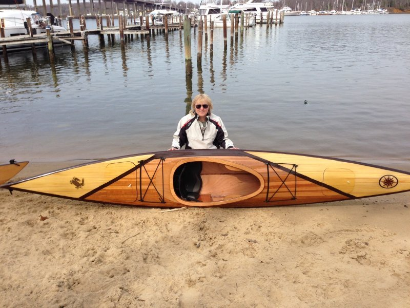 Wendy Norwitz with her Shearwater Sport Kayak