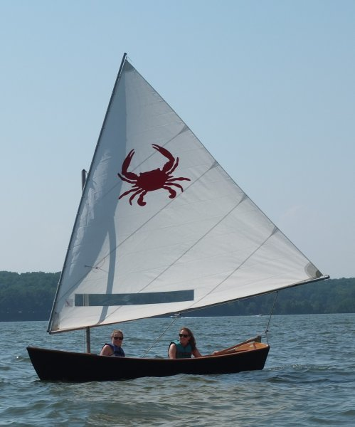 Chesapeake Light Craft Jimmy Skiff SAILING.