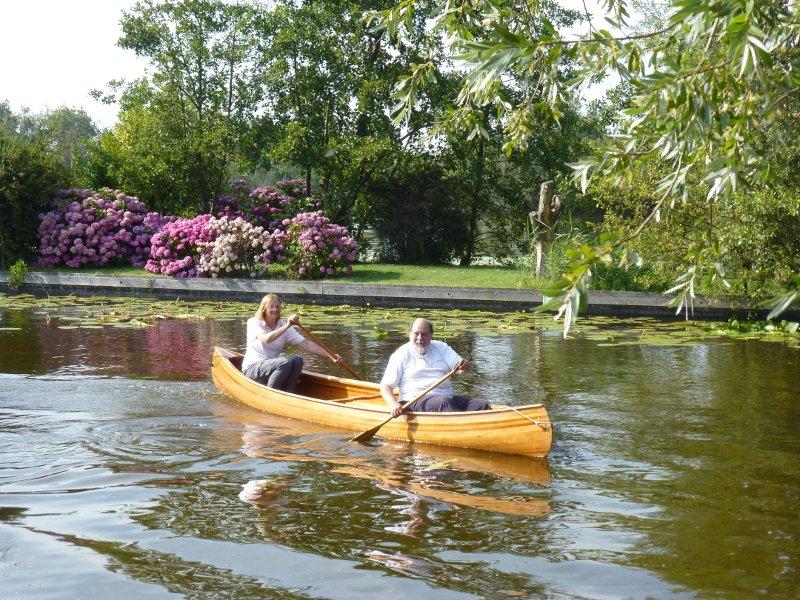 Wabnaki canoe Houtje in summer.