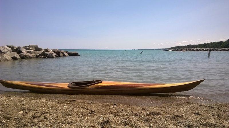 Jeff Parkers Petrel Kayak in Lake Bluff, Illinois
