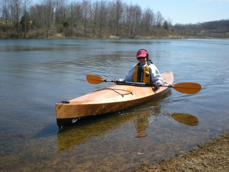 Rich's wife is very happy with her new Wood Duck Kayak