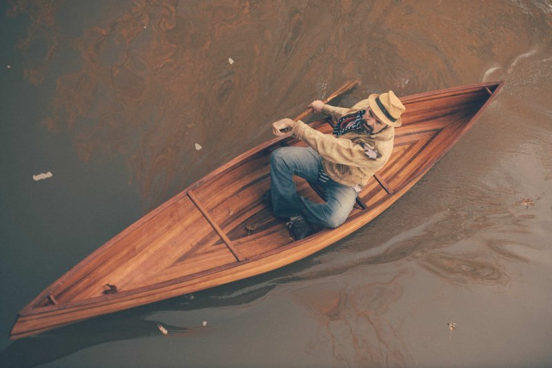 cedar strip solo canoe