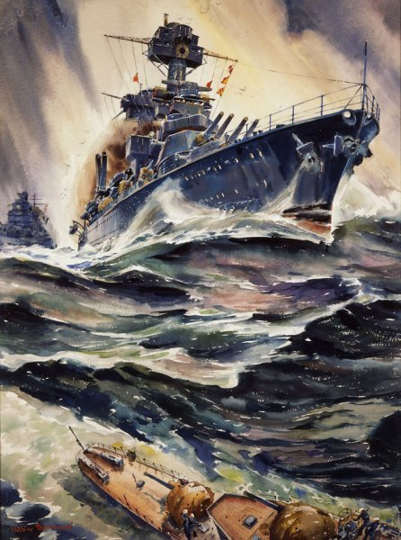 """The Backbone of Sea Power"" by Arthur Beaumont."