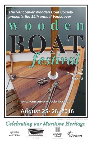 Vancouver Wooden Boat Festival poster.