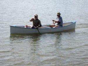 Family Boatbuilding at the Port Aransas Wooden Boat Festival.