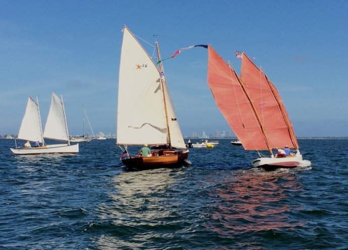 Egret and Scintilla at the starting line