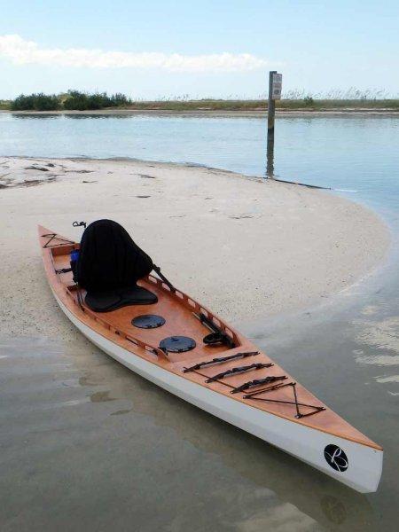 F1430 Fishing Kayak sit-on-top stitch and glue kit.