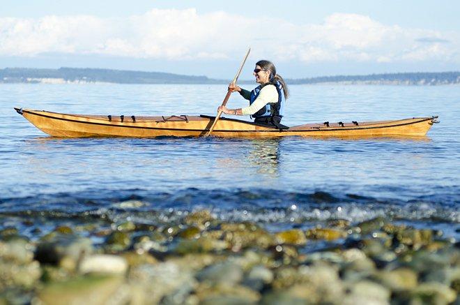 Selkie Kayak Kit, Pygmy Boats, Wooden Kayak kit for petite paddlers.
