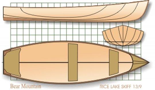 "13' 9"" Rice Lake Skiff lines"