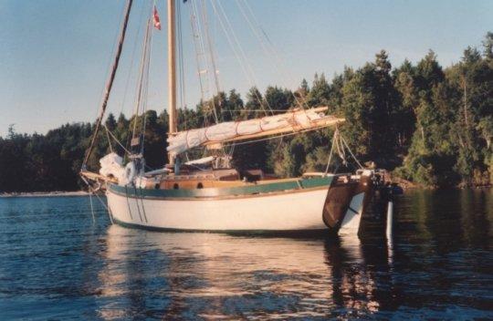 Wynfall at anchor