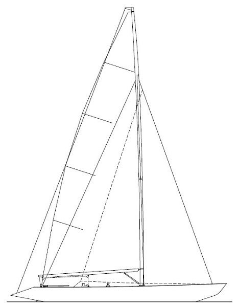 6 Meter Racing Yacht Sail Plan