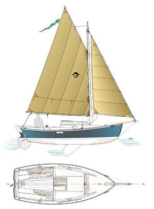 The Eider sailboat.