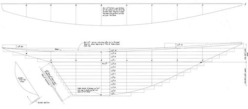 Half Model Plan GLORIANA profile