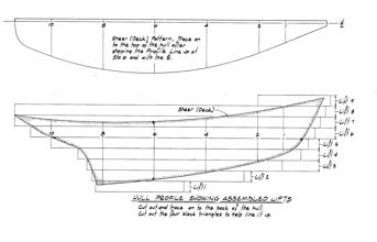 Half Model Plan Hattie profile
