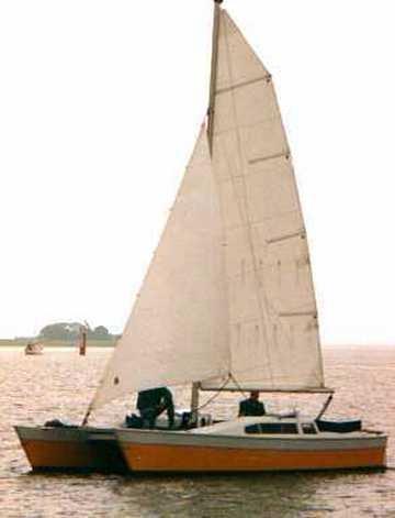 Janus sailing catamaran