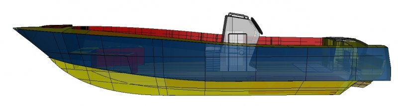 High performance offshore fishing and family boat