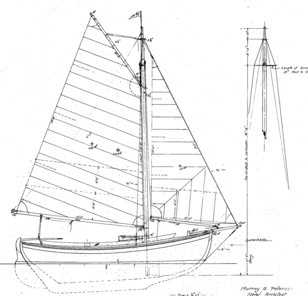 Gaff rigged sloop