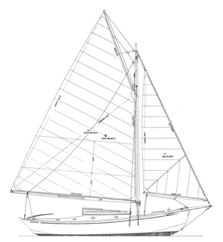 Zimmer 21' Gaff Sloop profile