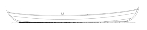 16' Double-Ended Pulling Boat, SHEARWATER profile
