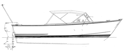 18' Plywood Runabout, DOWNEASTER profile