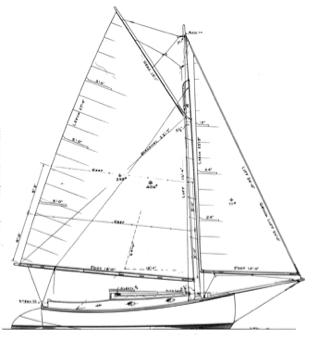 20' Catboat, MADAM TIRZA profile