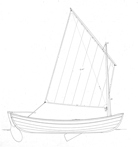 13' Sailing Peapod profile