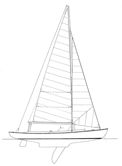 23' Double Ended Sloop profile