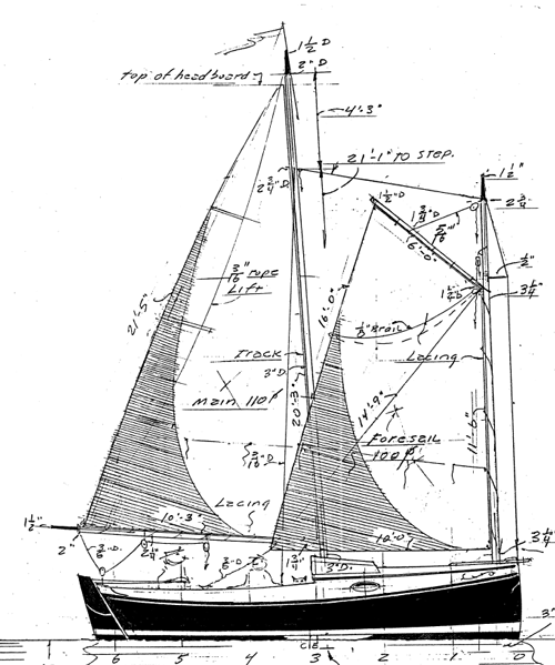 19' Cat Schooner profile