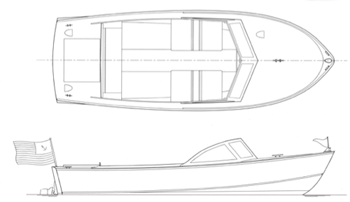 21' Pretty Marsh Runabout profile