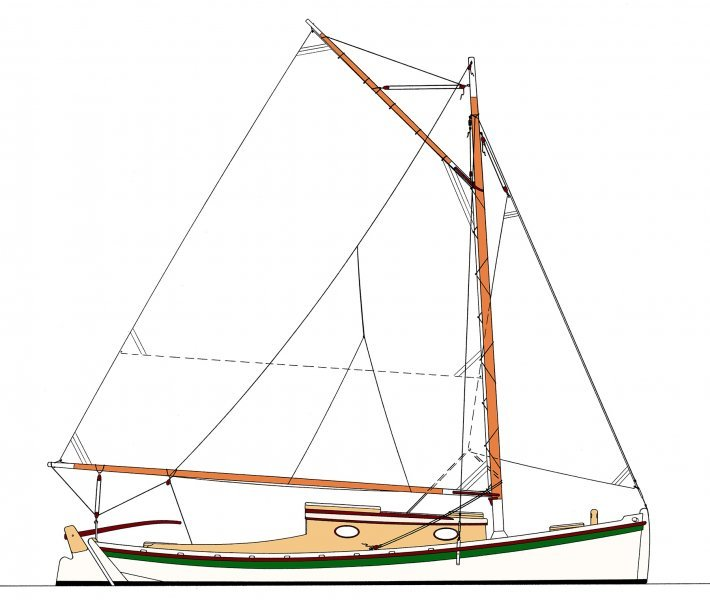 Hampton Flattie Sail Plan