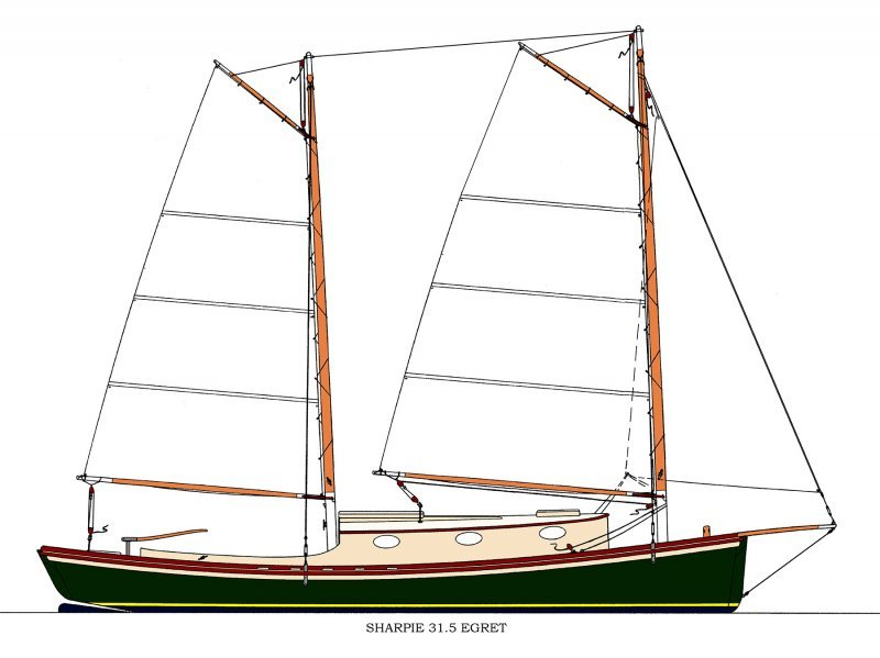 Sharpie 31.5 EGRET Sail Plan