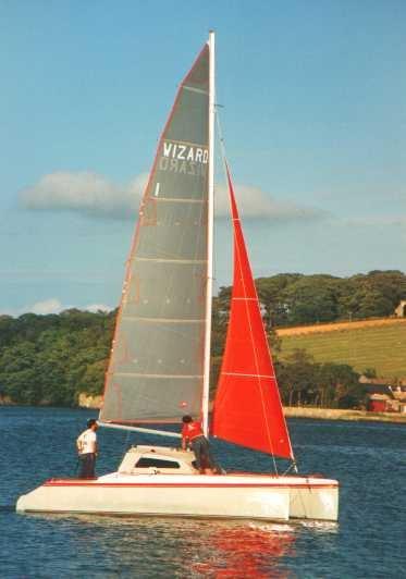 Wizard sailing catamaran