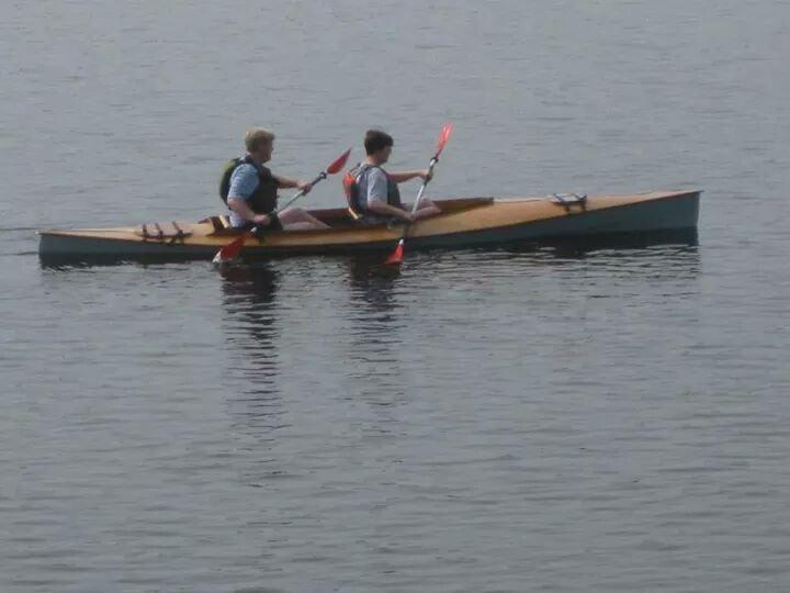 Mill Creek Tandem kayak built by Betty Galloway, 2014