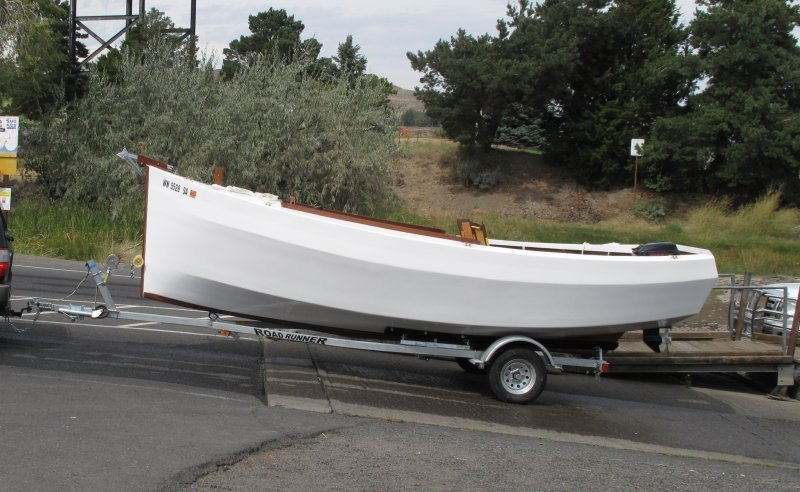 Initial launch on the Columbia River