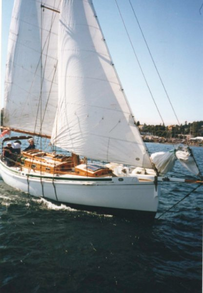SKYE under sail