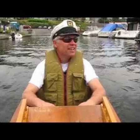 Paul Elkins 8ft. plywood electric boat