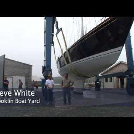 Brooklin Boat Yard Christens Sonny, a 70-foot Dieter Empacher cruising sailboat